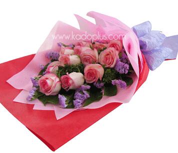 Rose Hand Bouquet Pink kadoplus