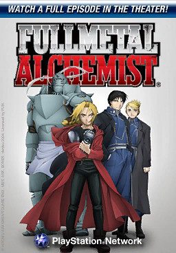Fullmetal Alchemist airing this week in the PlayStation Home Theater