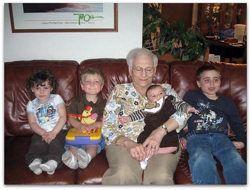 Great Grandkids and Mimi