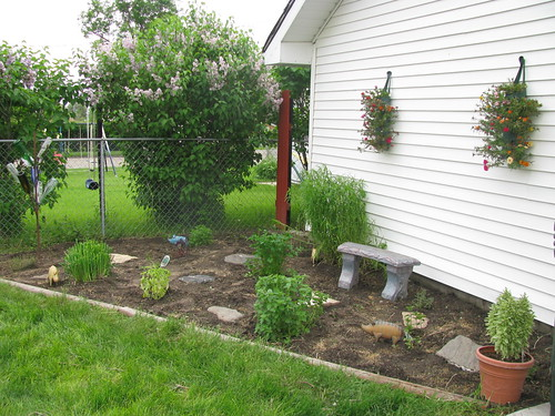 Herb Garden Before