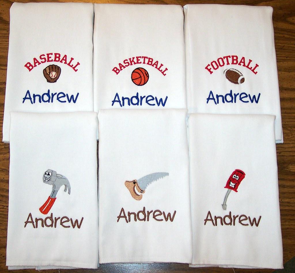 Set of 6 Burp Cloths