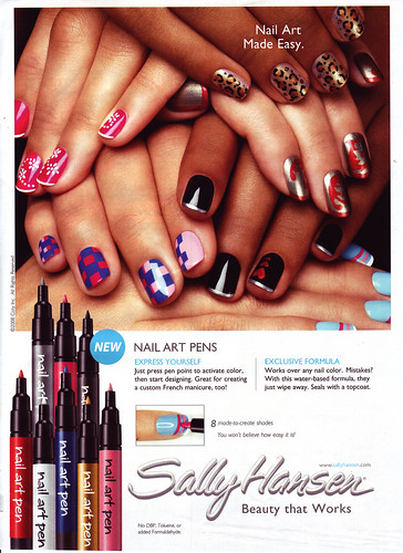 I saw this ad for Sally Hansen Nail Art Pens