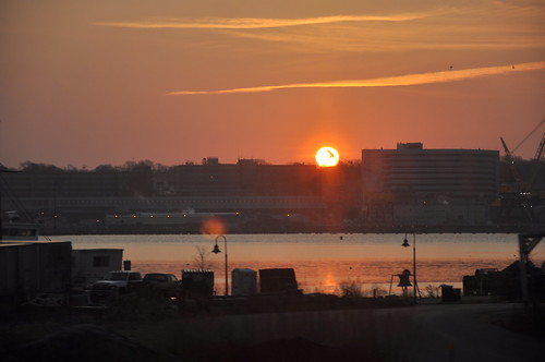 Sunrise over New London
