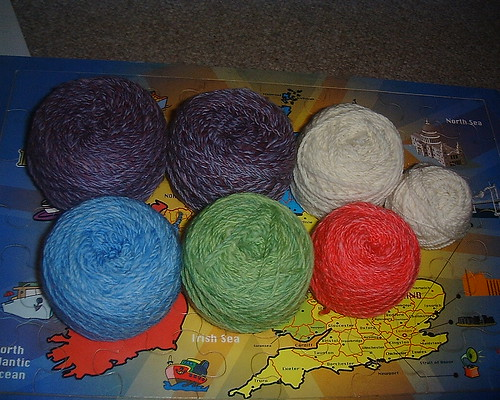 Sheep Yoke Cardi Yarn Cakes