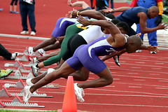 100 Meters (TexasEagle) Tags: athletics 100 athletes sprint trackandfield 100meters challengeyouwinner thechallengefactory collegetrack