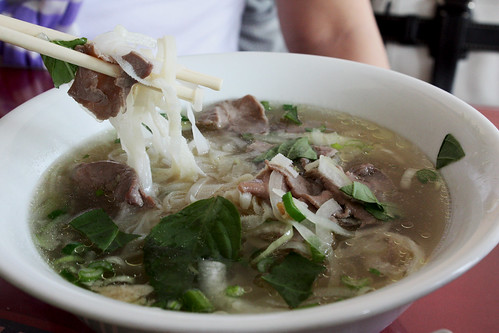 Beef Noodle Soup with Tripe and Rare Beef