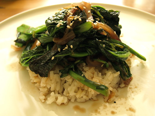 sauteed Asian greens
