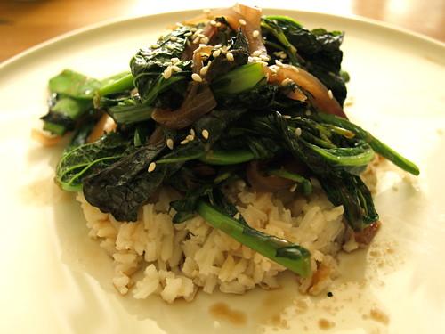 sauteed Asian greens