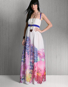 Milly Moy Waterflower Maxi Dress