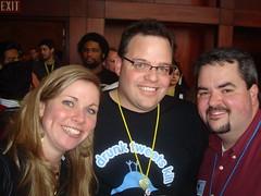 Krista Neher, Jason Baer, Jason Falls Blogger Lounge