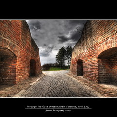 Through the Gate (zorroz) Tags: architecture nikon gate pavement fortress novisad hdr noble photomatixpro abigfave nikond300 hdrfrom5jpegs peterwardein peterwardeinfortress nikkor1685vr