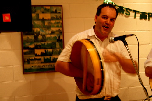 Tuesday: Adrian on the Bodhran