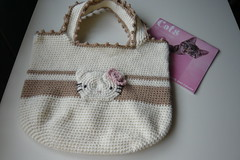 Hello Kitty Hand Bag (Pax *knits) Tags: hellokitty crochet hangbag