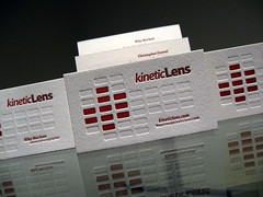 Kinetic Lens Letterpress Cards - Generic Card