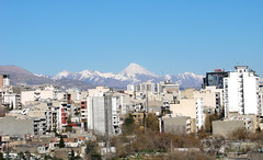 Damavand; Clear as crystal (nima; hopographer) Tags: city sky mountains buildings iran damavand air mount aid tehran  alborz norouz          5610metres 18406ft