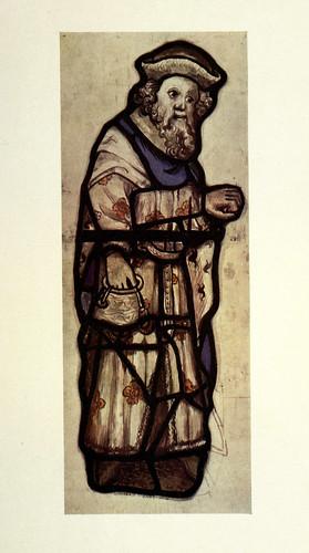 024- Detalle visitando a los presos del vitral Actos de Misericordia- Todos los Santos- York siglo XV