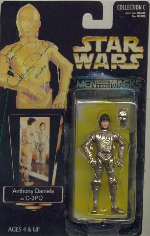 Autographed Anthony Daniels/C3PO custom Star Wars action figure