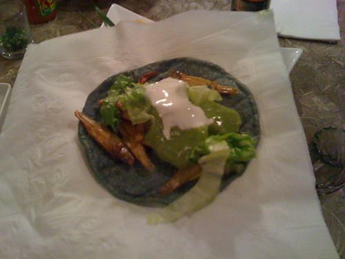 Sardine taco