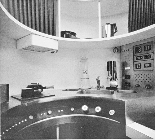 joe colombo, visiona 69 futurist habitat, 1969