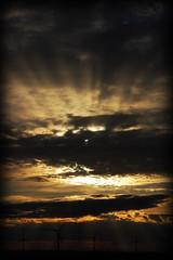 Parque Eolico de Calaf (javier_cambero) Tags: sunset sun sol sunshine clouds nikon catalonia nubes catalunya puestadesol 18200 catalua rayosdesol anoia calaf d40