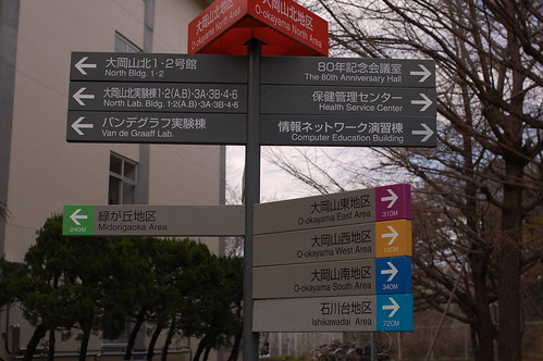 Ookayama Campus directions