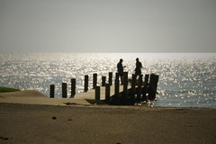 Small Pier (faungg) Tags: ocean life sea usa seascape reflection sunshine pier blurry nikon small  18200 waterside summervacation sprinkle gulfcoast getaways  southerncharm mywinners platinumphoto moviestyle faungg