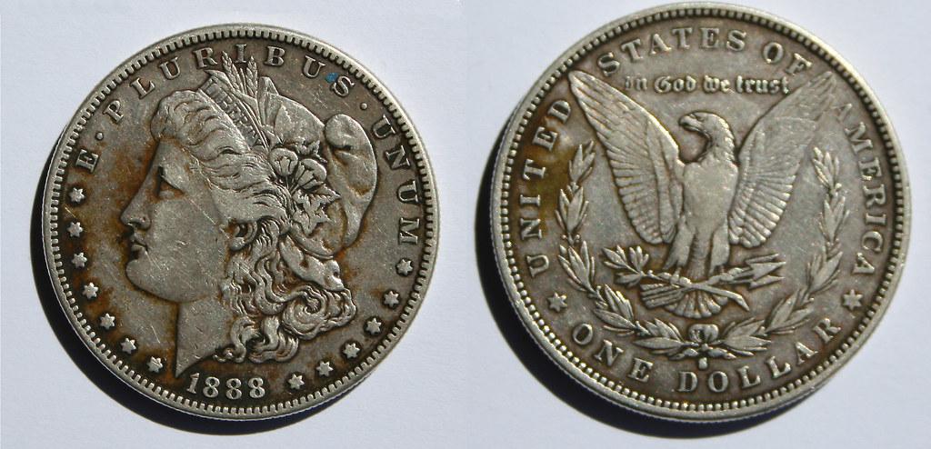 An 1888-S Morgan Silver Dollar