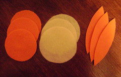 felt orange supples