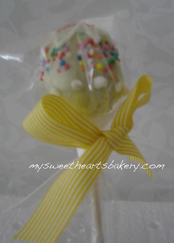 White choc cake pop