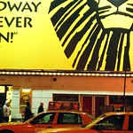 taxi and lion