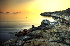 Sunset with the cliffs (Johan Runegrund) Tags: sunset nikon solnedgång tjörn d40