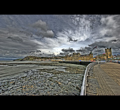 Aberystwyth Seafront (Bs0u10e0) Tags: uk sea wales nikon rocks university sigma aberystwyth promenade april seafront 1020mm 2009 hdr photomatix d80