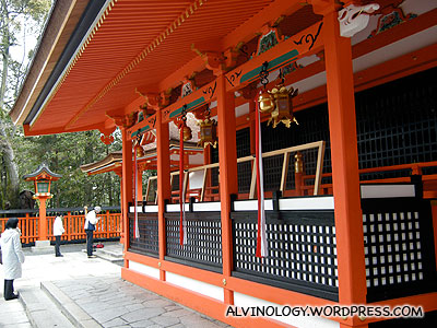 One of the many small shrines within the Inari shrine