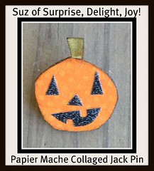 spookytime jingles doorprize 42009 jack pin glittered Suz