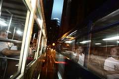 Passing (briyen) Tags: life street train hongkong movement ride photos ghost tram hong kong  ifc flickrchallengegroup flickrchallengewinner platinumheartaward  thepinnaclehof tphofweek195