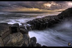 Washed Up... With A Touch of Gold! ([ Rodelicious ]) Tags: ocean longexposure trip travel light sea vacation sky sun seascape color colour art beach nature beautiful beauty clouds contrast photoshop sunrise canon landscape geotagged photography photo rocks exposure dof photos australia queensland pk canoneos hdr highdynamicrange hdri blending waterscape rodel sigma1020mm photomatix tonemap fingalheads canon400d canonxti colorphotoaward aplusphoto pinoykodakero colourartaward perfectescapes rodelicious grouptripod vosplusbellesphotos ifolio garbongbisaya rodeljoselitomanabat