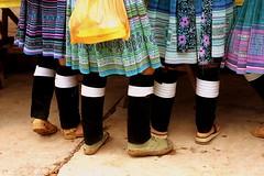 Traditional Legwarmers (nadeemy) Tags: china marketplace yunnan yuanyang menglao