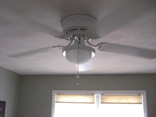 Ceiling fan in motion