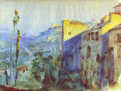Córdoba. Sketch for the scenery, 1883. The Theater Museum of A. A. Bakhrushin, Moscú.