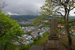 瞰望岩から眺めた遠軽の町並み
