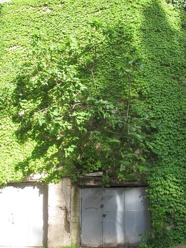 above a garage