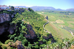 Cliffs of Ronda (cwgoodroe) Tags: summer costa white hot sol beach del bells spain ancient europe churches sunny bull bullfighter adobe ronda moors walls washed clothesline protective newbridge roda bullring stonebridge oldbridge spainish whitehilltown rondah spanishdoors