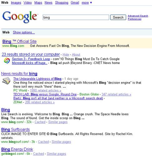 bing-goog-organic-results-june3-09
