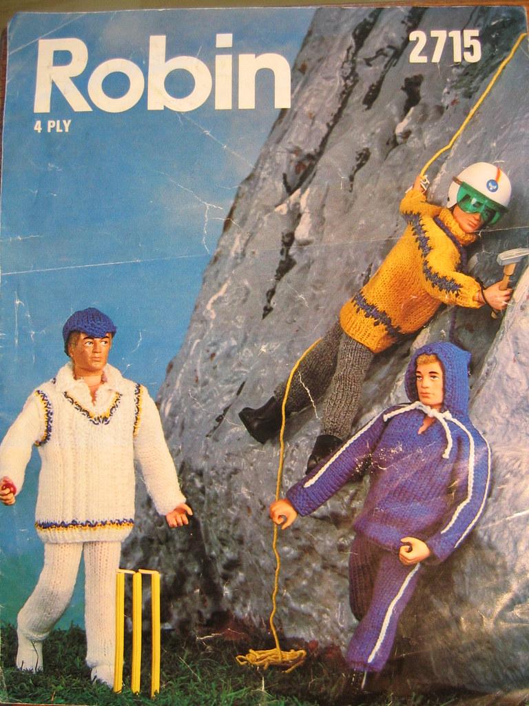 70's Action Man knitting leaflet
