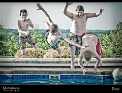 Boys (Morristowne) Tags: ohio boys pool kids swimming laughing fun jumping sigma d200 f28 70200mm morristownephotography