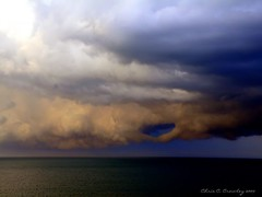 God's Portal (Chris C. Crowley) Tags: ocean sky storm weather clouds florida thunderstorm cloudporn thunderhead centralflorida freakinawesome daytonabeachshores lucidmysterious chriscrowley cloudsandanythingelse celticsong22 scenicsnotjustlandscapes cloudsandthosethatneedthem grandcoquinagetaway godsportal