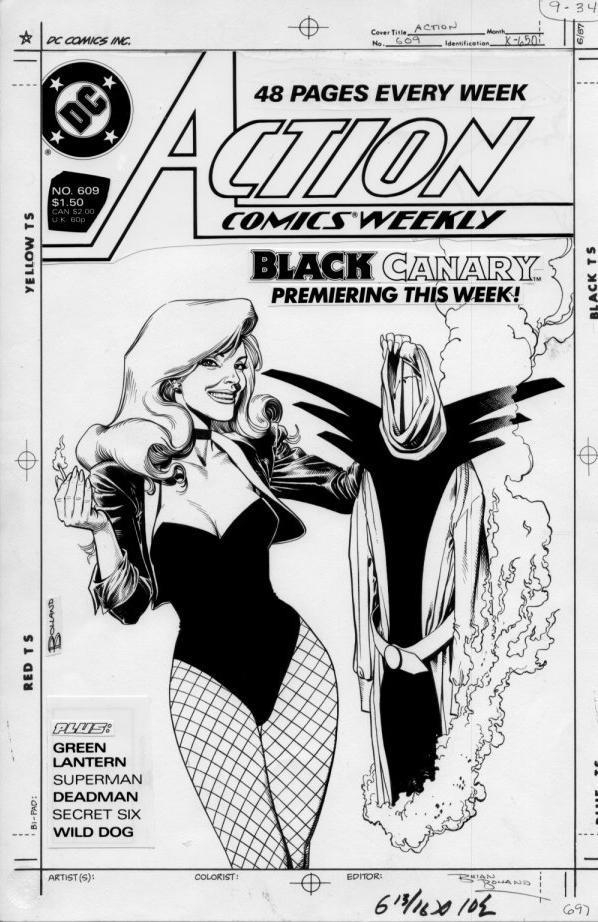 Black Canary Action 609 cover by Bolland