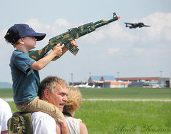 Toy gun | Reading Airshow (*Arielle*) Tags: boy people man hat plane airplane toy reading kid gun child pennsylvania airshow weapon heritage2011