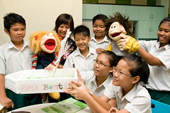 Puppets at Casuarina Primary