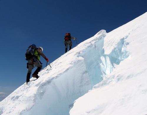 Across the ice bridge